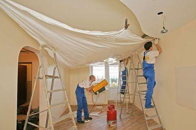 Технология монтажа натяжных потолков