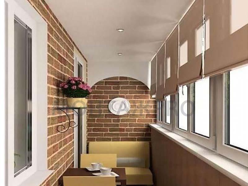 Натяжные потолки на балкон
